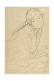 Seated Woman, Viewed from the Side Giclee Print by Gustav Klimt