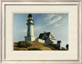 Lighthouse at Two Lights Framed Giclee Print by Edward Hopper