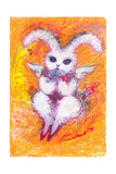 The Angel of a Rabbit Loving Saying Grace Giclee Print by Mariko Miyake