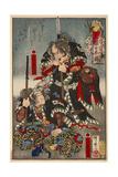Chiba Saburobei Mitsutada and Yato Ueshichi Norikane Giclee Print by Kyosai Kawanabe