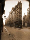 Angle des Rues de Seine et de l'EChaude, 6e Arrondissement, Mai 1924 Papier Photo par Eugène Atget
