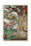 Mount Akiba from the Series Scenes of Famous Places Along the Tokaido Road Giclee Print by Kyosai Kawanabe