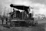 Agriculture German Tractor with Oil Photographic Print by Brothers Seeberger