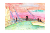 Lovers of the Dusk across the Bridge Giclee Print by Mariko Miyake