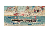 Congratulations on Maritime Security for All Eternity Giclee Print by Kyosai Kawanabe
