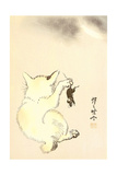 Cat and Mouse Giclee Print by Kyosai Kawanabe