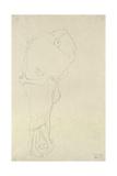 Gustav Klimt - Standing Pair of Lovers Digitálně vytištěná reprodukce