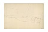 Woman Reclining with Right Leg Raised Giclée-Druck von Gustav Klimt