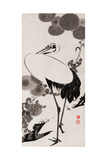 A Cranes Sumi on Paper 2 Giclee Print by Jakuchu Ito