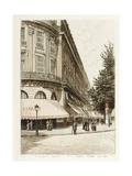 Boulevard des Capucines: Maison Violet Rue Scribe Giclee Print by Adolphe Martial-Potémont