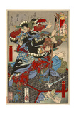 Yoshida Sawaemon Kanesada and Okuda Magodayu Shigemori Giclee Print by Kyosai Kawanabe
