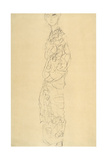 Standing Woman Wrapped in Sheets Giclee Print by Gustav Klimt
