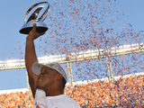 NFL Playoffs 2014: Jan 19, 2014 - Broncos vs Patriots - Demaryius Thomas Photographic Print by Jack Dempsey