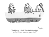"""Can I buy you a drink? And then if things don't work out between us you c…"" - New Yorker Cartoon Premium Giclee Print by Zachary Kanin"
