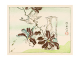 Kyosai Rakuga - Bird and Flowers Giclee Print by Kyosai Kawanabe