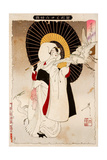 An Egret Girl, Thirty-Six Transformations Giclee Print by Yoshitoshi Tsukioka