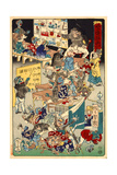 School for Spooks, No. 3 from the Series Drawings for Pleasure by Kyosai Giclee Print by Kyosai Kawanabe