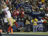 NFL Playoffs 2014: Jan 19, 2014 - 49ers vs Seahawks - Anquan Boldin Photographic Print by Ted S. Warren