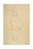 Seated Girl Seen from the Front Giclée-Druck von Gustav Klimt