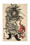 Shoki and Two Demons Giclee Print by Kyosai Kawanabe