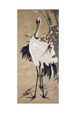 Two Cranes Giclee Print by Jakuchu Ito