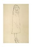 Standing Girl in Coat Giclee Print by Gustav Klimt