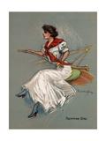 Yachting Girl Giclee Print by Hamilton King