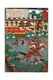 Horse Race - Tokaido No Uchi Giclee Print by Yoshitsuya Utagawa