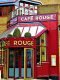 Cafe Rouge Queensway, London Photographic Print by Anna Siena