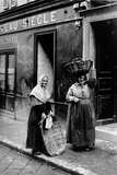 Nice Women in the Streets of the Old City Photographic Print by Brothers Seeberger