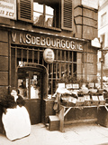Street Vendor Selling Shellfish, Rue des Fosses Saint Jacques, 5th Arrondissement, 1903 Fotografie-Druck von Eugène Atget