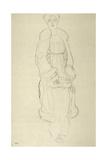 Standing Woman in Coat 2 Giclee Print by Gustav Klimt