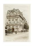 Boulevard Saint-Martin: Théâtres de la Renaissance et de la Porte Saint Martin Giclee Print by Adolphe Martial-Potémont