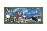 Birds, Animals, and Flowering Plants in Imaginary Scene 2 Giclee Print by Jakuchu Ito