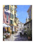 Sunny Street in Portofino Plakater af Michael Swanson