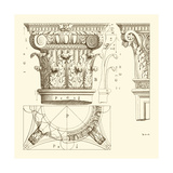 Small Corinthian Detail III Premium Giclee Print by  Vision Studio