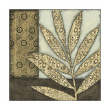 Small Neutral Leaves and Patterns IV Prints by Megan Meagher