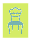 Small Graphic Chair IV Print by Chariklia Zarris