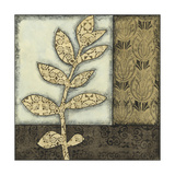 Small Neutral Leaves and Patterns III Print by Megan Meagher