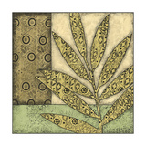 Small Green Leaves and Patterns IV Prints by Megan Meagher