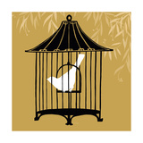 Small Birdcage Silhouette I Premium Giclee Print by Erica J. Vess