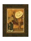 Hat and Saddle Premium Giclee Print