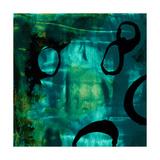 Turquoise Element I Poster von Sisa Jasper