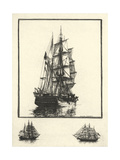 Antique Ships I Prints