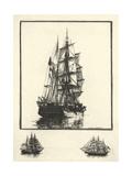 Antique Ships I Premium Giclee Print