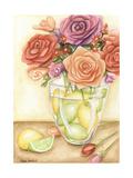 Fresh Fruit and Flowers I Premium Giclee Print