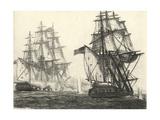 Antique Ships III Premium Giclee Print