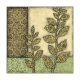 Small Green Leaves and Patterns II Prints by Megan Meagher