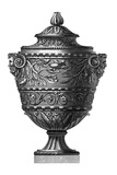 Black and White Urn II Premium Giclee Print
