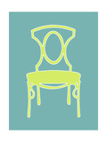 Small Graphic Chair I Premium Giclee Print by Chariklia Zarris